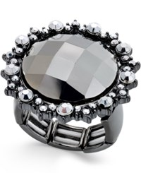 Styleandco. Style And Co. Hematite Tone Large Faceted Stone Stretch Ring Only At Macy's
