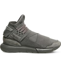 Adidas Y3 Qasa High Woven Trainers Vista Grey