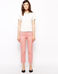 Orla Kiely Textured Jacquard Trousers Peonypink