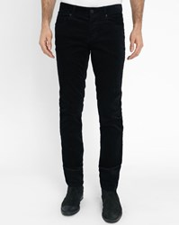 Ikks Black 5 Pocket Corduroy Slim Fit Trousers