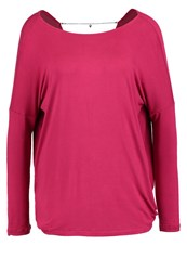 Guess Tamami Long Sleeved Top Blossom Wine Berry