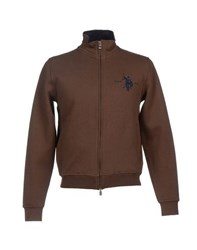 U.S. Polo Assn. U.S.Polo Assn. Topwear Sweatshirts Men Dark Brown