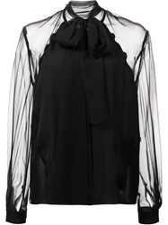 Carolina Herrera Georgette Blouse Black