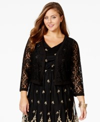 American Rag Plus Size Cropped Lace Cardigan Only At Macy's Classic Black