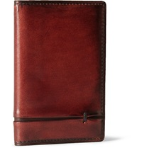 Berluti Burnished Leather Wallet Red