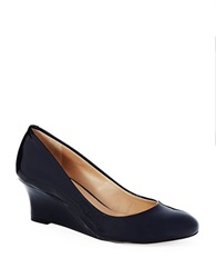 Arturo Chiang Arora Patent Leather Wedges Navy Patent
