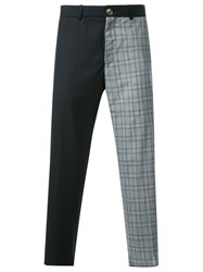 Wan Hung Cheung Two Tone Trousers Black