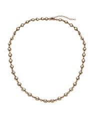 Azaara Vintage By Swarovski Crystal Silver And Copper Antique Station Necklace Antique Gold