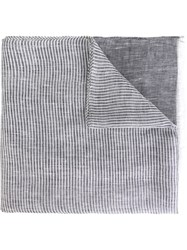 Canali Striped Scarf Grey