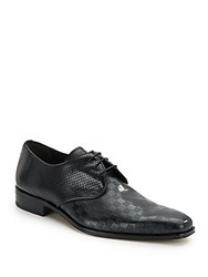 Mezlan Perforated Leather Oxfords Tan