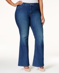 Nydj Plus Size Farrah High Rise Flare Jeans Cleaveland