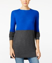 Vince Camuto Colorblocked Sweater Cobalt Blue Charcoal