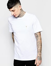 Farah T Shirt With F Logo In Reg Fit White