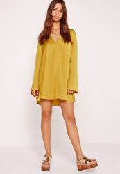 Missguided Harness Shift Dress Chartreuse Green Green