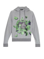 Christopher Kane Graphic Print Hooded Sweatshirt