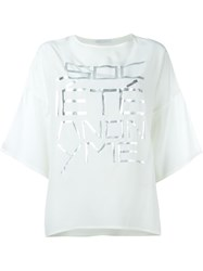 Socia Ta Anonyme Oversized Front Print T Shirt Nude And Neutrals