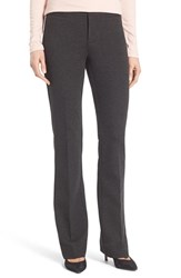 Nydj Petite Women's 'Michelle' Stretch Ponte Trousers Charcoal