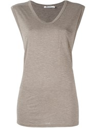Alexander Wang T By Cap Sleeve Tank Top Nude And Neutrals