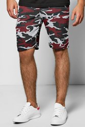 Boohoo Space Shorts Red