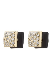 Marc By Marc Jacobs Crystal Embellished Earrings Black