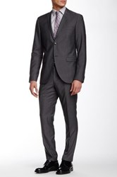 Tiger Of Sweden Jil Two Button Notch Lapel Wool Suit Gray