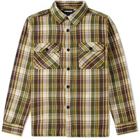 Undefeated Plaid Flannel Shirt Green