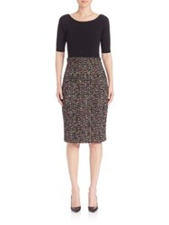 Escada Tweed Skirt Combo Dress Black