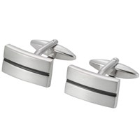 John Lewis Stripe Oblong Cufflinks