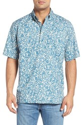 Reyn Spooner Men's 'Island Biscus' Classic Fit Wrinkle Free Print Pullover Camp Shirt