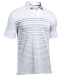Under Armour Men's Coldblack Striped Polo White