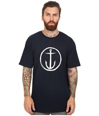 Captain Fin Og Anchor Standard Tee Navy White Men's T Shirt Blue