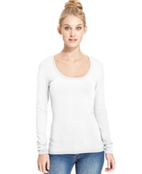 Energie Juniors' Scoop Neck Top Bright White
