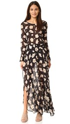 Flynn Skye Oakland Maxi Dress Sheer Onyx