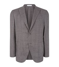 Boglioli Woven Blazer Male Dark Grey