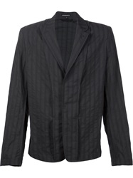 Ann Demeulemeester Hidden Button Jacket Black