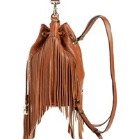 Dolce Vita Collection Handbags Amber Convertible Backpack W Fringenutmeg