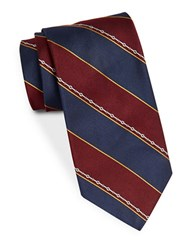 Brooks Brothers Classic Wide Striped Tie Red