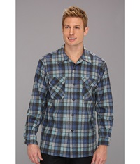 Pendleton L S Board Shirt Blue Beach Boys Plaid Men's Long Sleeve Button Up Navy