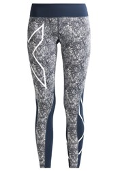 2Xu Tights Dark Blue