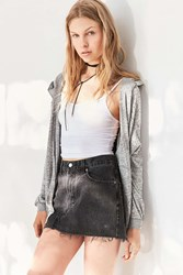 Silence And Noise Hoodie Cardigan Grey