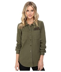 Vans Drop In Dropout Woven Ivy Green Women's Clothing
