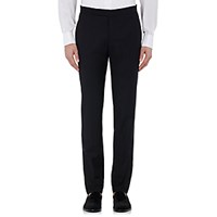 Incotex Men's S Body Slim Fit Wool Blend Trousers Black Blue Black Blue