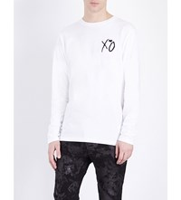 The Weeknd False Alarm Graphic Print Cotton Jersey Top White