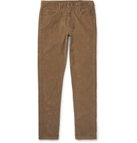Gucci Skinny Fit Stretch Cotton Corduroy Trousers Brown