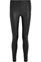 Karl Lagerfeld Stretch Leather Leggings Black