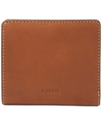 Fossil Emma Rfid Leather Bifold Mini Wallet Brown