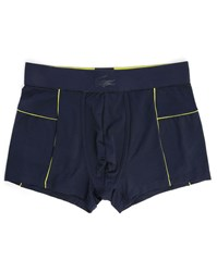 Lacoste Underwear Navy Short Boxer Shorts With Yellow Elastic