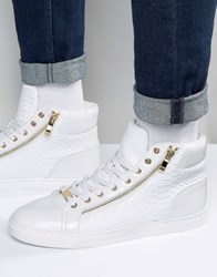 Asos High Top Trainers In White White