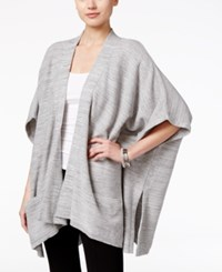 Styleandco. Style Co. Poncho Sleeve Side Slit Cardigan Only At Macy's Grey Warm Ivory