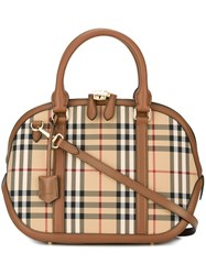 Burberry House Check Medium Tote Brown